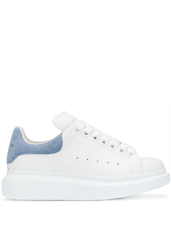Alexander Mcqueen Suede-Trimmed Leather Exaggerated-Sole Sneakers In 9048