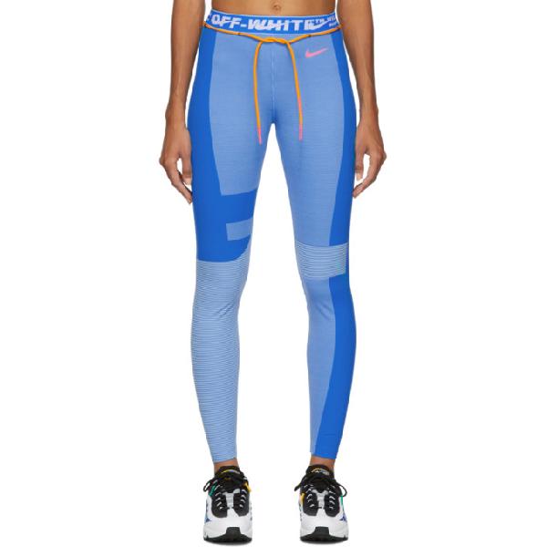 nike off white blue leggings