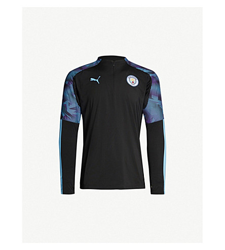 pretty nice 3ef84 1f03a Manchester City High-Neck Stretch-Jersey Football Top in Black
