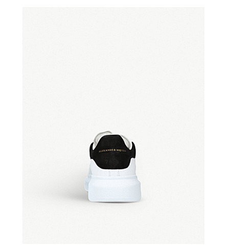 Alexander Mcqueen Suede-Trimmed Leather Exaggerated-Sole Sneakers In White