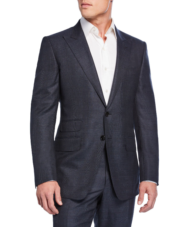 Tom Ford Men's O'Connor Check Wool Two-Piece Suit In Blue