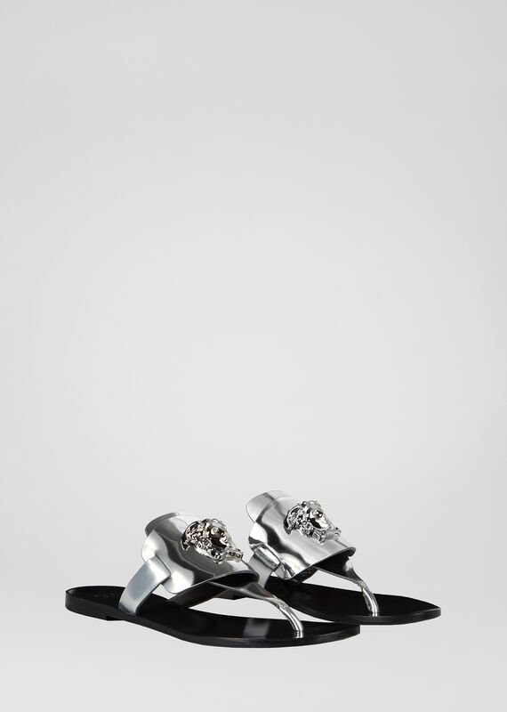 Versace Palazzo Sandals In D92P Silver