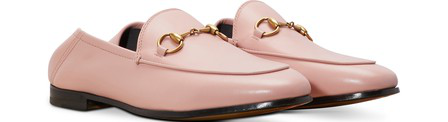 Gucci Brixton Horsebit-Detailed Leather Collapsible-Heel Loafers In Pink