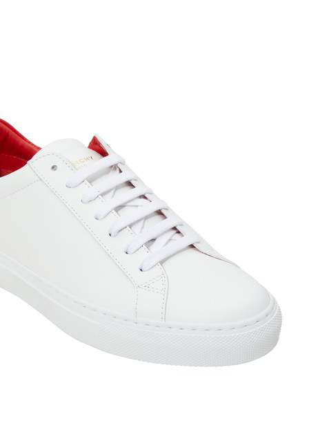 Givenchy Paris Urban Street Sneakers In White And Red