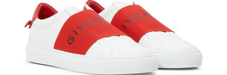 Givenchy Slip-On 5E01Y Calfskin Logo Red White
