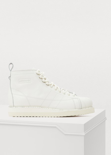 Superstar Boot Sneakers In Triple White White in Blanc Nuage