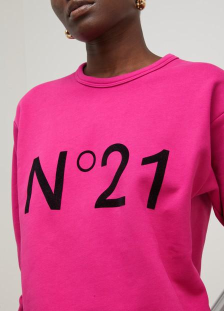 N°21 Fuchsia Cotton Sweatshirt
