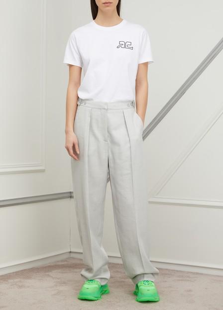 Stella Mccartney Wide-Leg Dress Pants In Gray