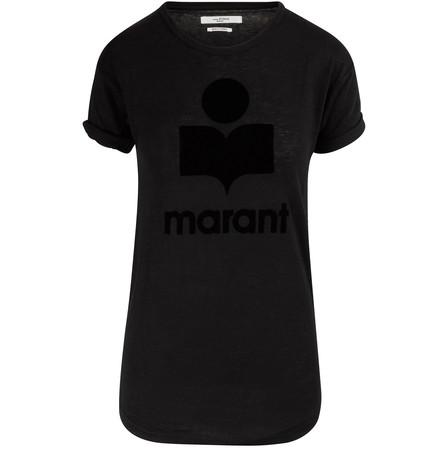 Isabel Marant étoile Black Linenflax Koldi T Shirt Modes