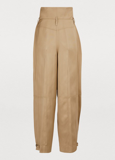 Givenchy Woven Tapered Pants In Beige