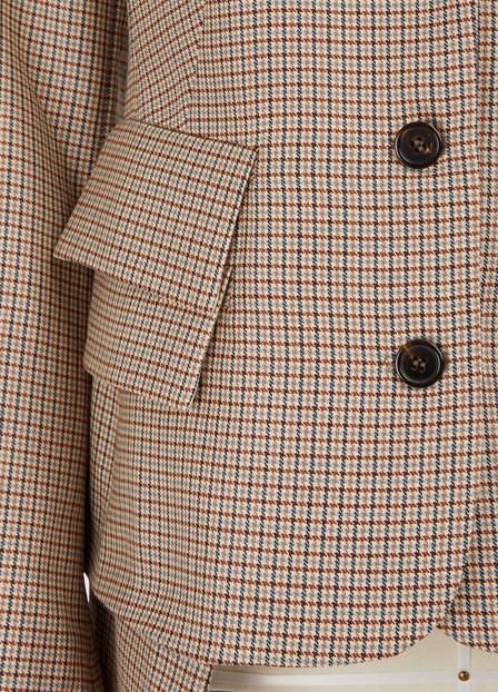 Aalto Check Blazer In Brown
