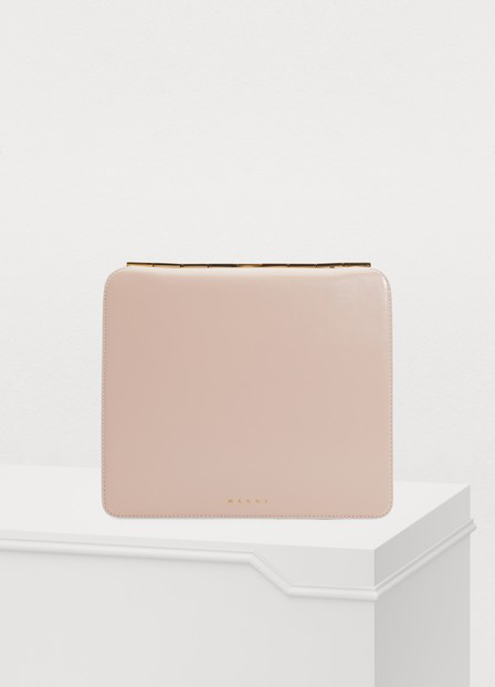 Marni Cache Crossbody Bag In Quartz