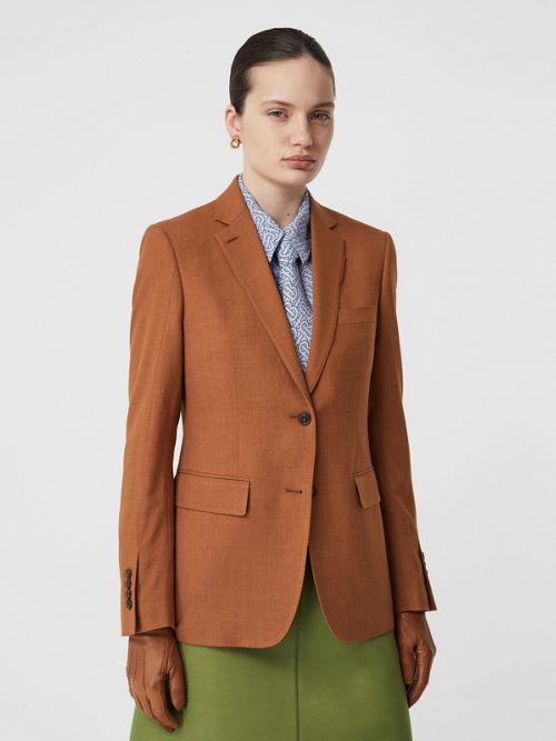 BURBERRY Wool, Silk and Cotton Blazer