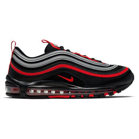 Nike Men S Air Max 97 Casual Shoes In Grey Black Red Modesens