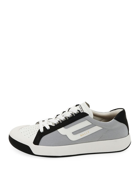 BALLY MEN'S NEW COMPETITION MESH & LEATHER SNEAKERS,PROD222680425