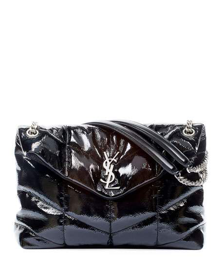 Saint Laurent Loulou Medium Ysl Shiny Puffer Shoulder Bag