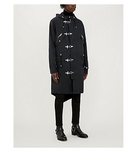 website for discount 100% genuine unique design Clip-Fastening Shell Parka Coat in Black