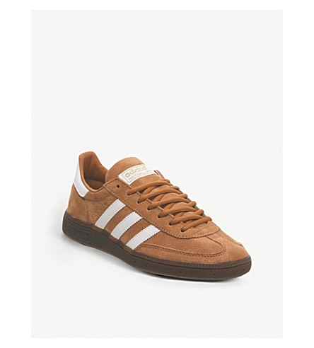 Handball Spezial Low Top Suede Trainers in Copper White Gold
