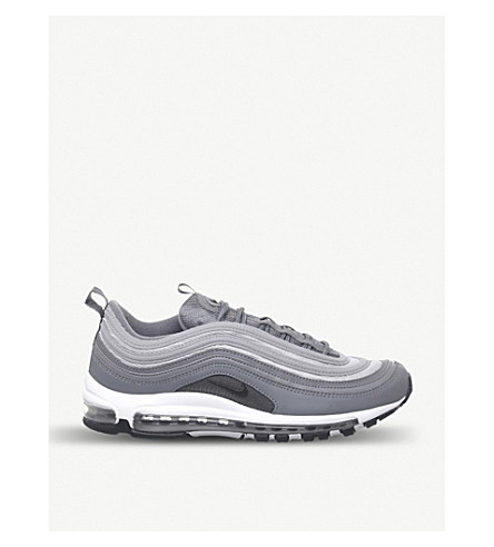 promo code a935e 9f0d2 Air Max 97 Leather Trainers in Cool Grey Wolf Grey