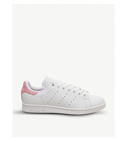 hot sales 8d680 1956a Stan Smith Leather Trainers in White Pink Copper