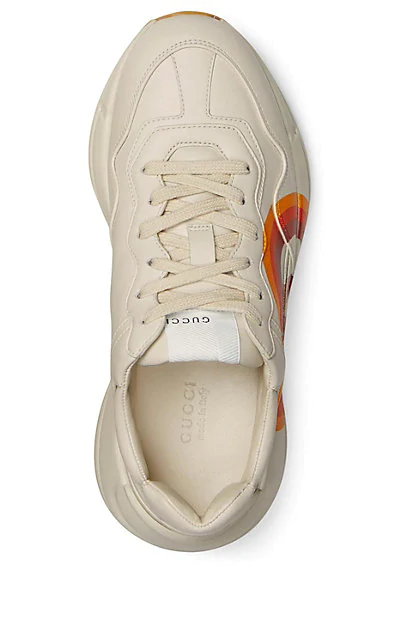 GUCCI RHYTON LEATHER SNEAKERS,00505060649560