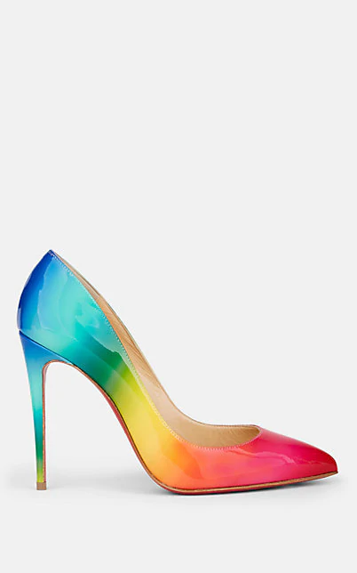 official photos 69aef 077fb Pigalle Follies 100 Rainbow Patent Leather Pumps in Multi
