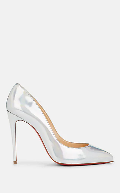 new style 3c013 acd77 Pigalle Follies Specchio Leather Pumps in Silver