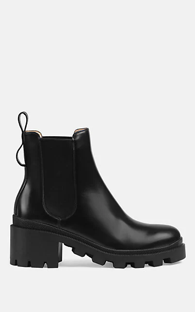 GUCCI TRIP LEATHER CHELSEA BOOTS,00505060651969