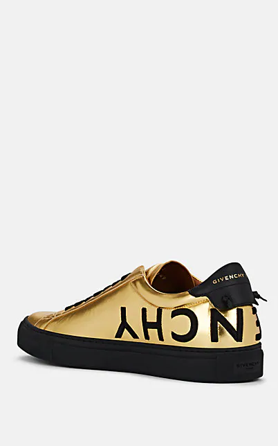 GIVENCHY URBAN STREET LEATHER SNEAKERS,00505061674356