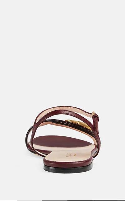 GUCCI MARMONT LEATHER SANDALS,00505060655073
