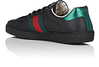 GUCCI ACE GUCCY-PRINT LEATHER SNEAKERS,00505056954692