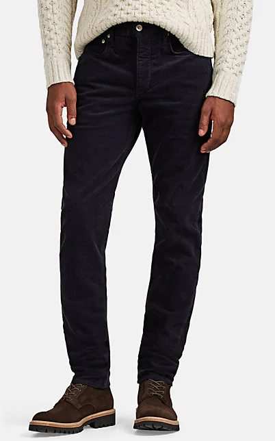 uk store good reputation wide selection Men's Fit 2 Mid-Rise Relaxed Slim-Fit Corduroy Pants, Navy