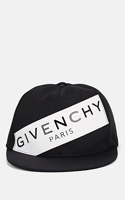 GIVENCHY LOGO CANVAS BASEBALL CAP - WHT.&BLK.,00505060572462