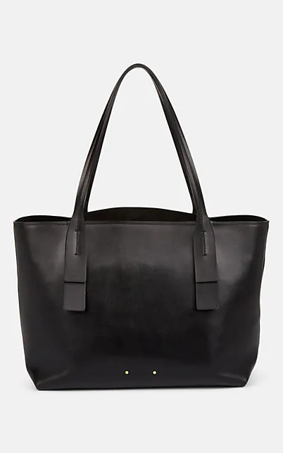 CHLOÉ INITIAL C LEATHER TOTE BAG - BLACK,00505062484954