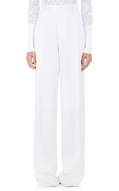 GIVENCHY WOOL WIDE-LEG PANTS,00505054584570