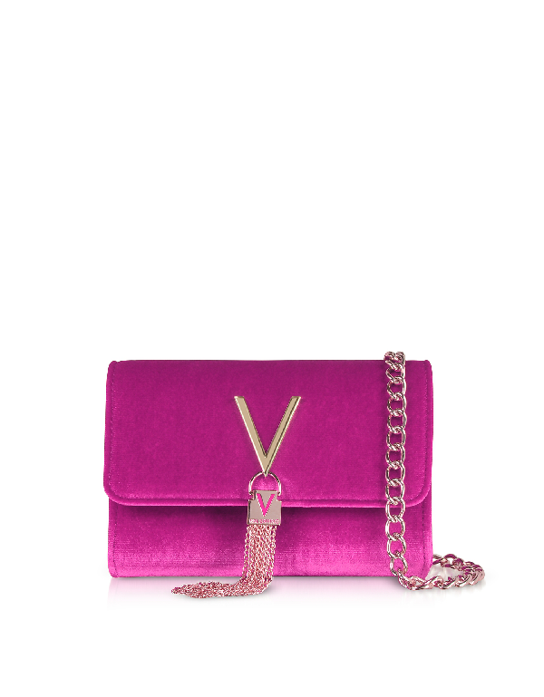 Valentino by Mario Valentino Marilyn wallet portefeuille bordeaux violet NEUF