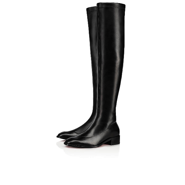 new style 59160 106f0 Theophila Flat Red Sole Boots in Black