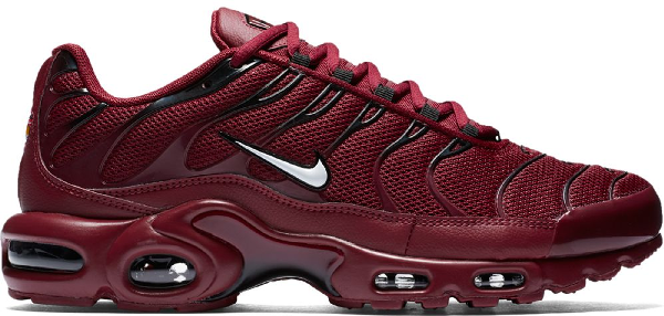 Pre Owned Nike Air Max Plus Team Red In Team Red White Black
