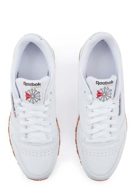 Women's Classic Leather Lace Up Sneakers in White
