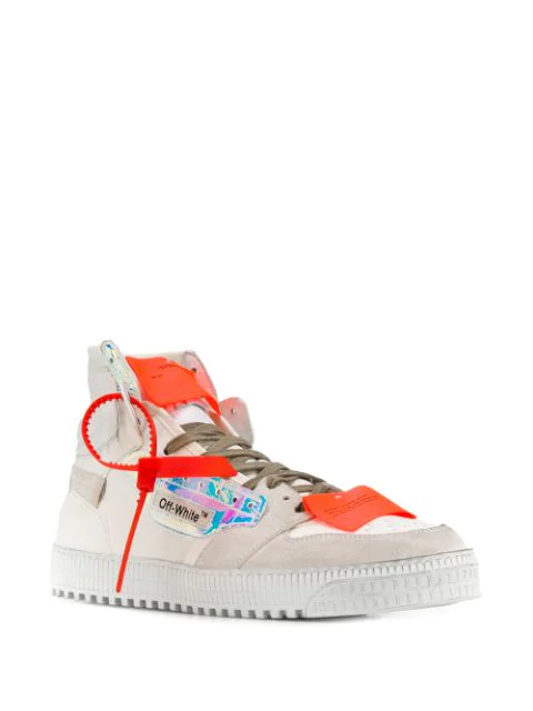 OFF-WHITE OFF COURT HIGH-TOP SNEAKERS