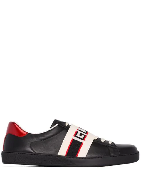 GUCCI NEW ACE LOGO SNEAKERS