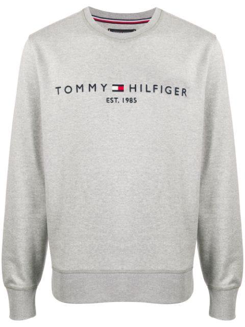 new men and women Tommy Hilfiger cotton blend round neck logo sweatshirt 2019