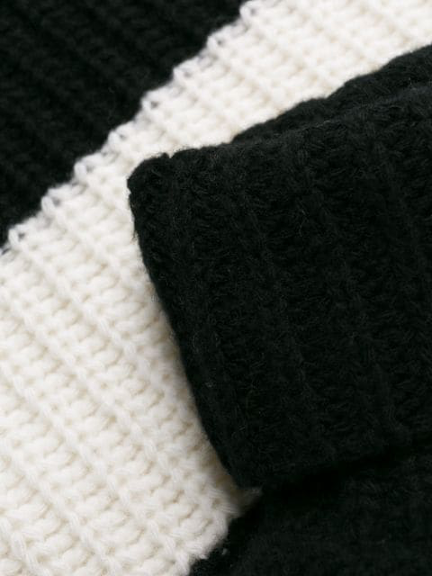Layered effect Roll neck Virgin wool Sweater In 999