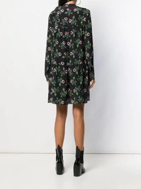 VALENTINO X UNDERCOVER FLORAL SILK DRESS