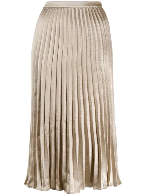 low price sale attractive & durable superior quality Pleated Midi Skirt in Gold