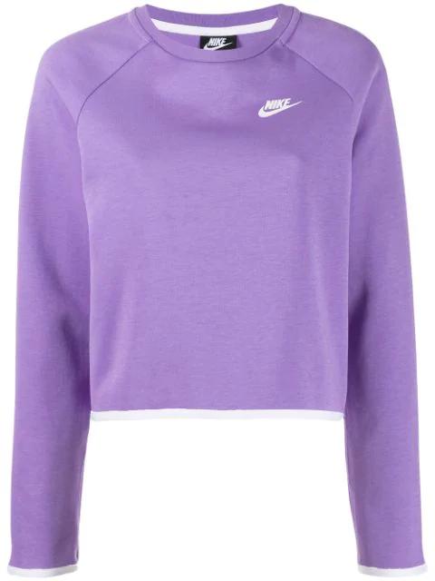 nike swoosh hoodie lilac