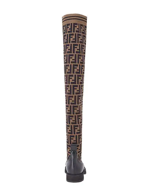 FENDI DOUBLE F THIGH-HIGH BOOTS