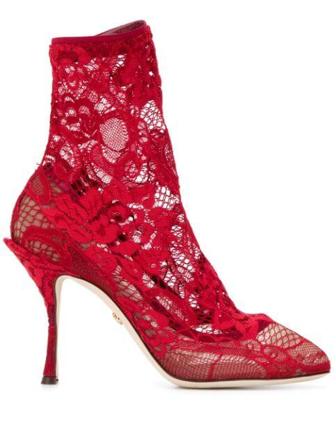 auf Füßen Bilder von professionelles Design bestbewerteter Beamter Stiefel Mit Schnürung in Red