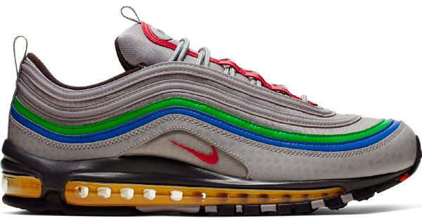 Pre Owned Nike Air Max 97 Nintendo 64 In Atmosphere Grey Habanero