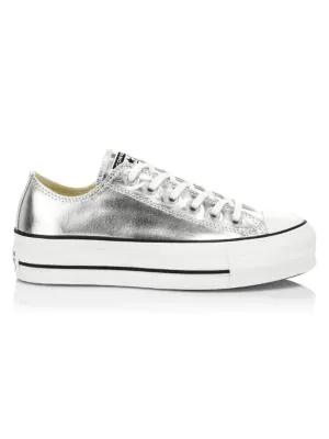 converse platform silver